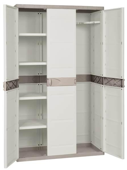 armario resina 3 puertas 4 baldas tryun